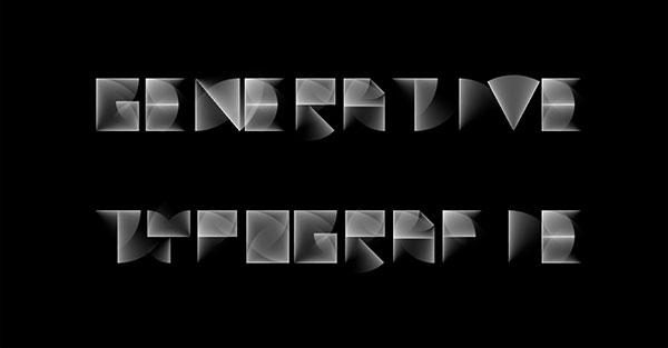 Arbeitsbeispiel Generative Typografie
