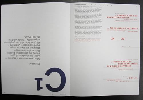 Seitenpaar »read & play. Einführung in die Typografie«