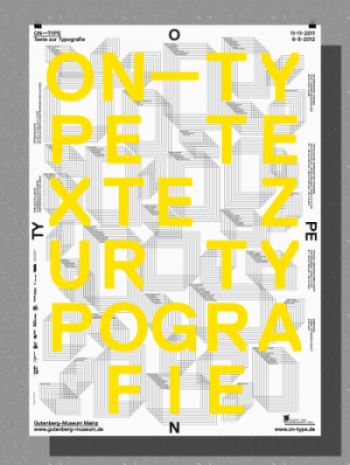Plakat zur Ausstellung ON TYPE im Gutenberg-Museum Mainz