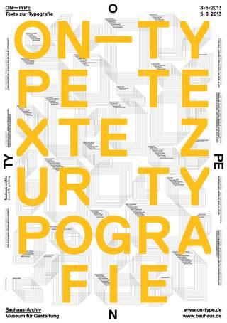 Plakat für die Ausstellung ON TYPE im Bauhaus-Archiv Berlin