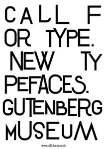 Call for Typefaces Gutenberg Museum