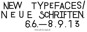 Call for type Vernissage