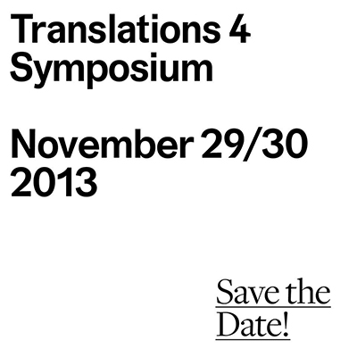 Translations 4 Symposium: Save the date!