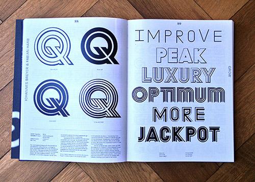 Doppelseite der Publikation »Neue Schriften. New Typefaces«
