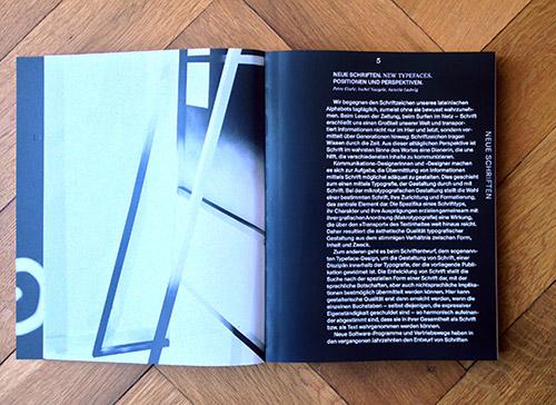Einleitung der Publikation »Neue Schriften. New Typefaces«